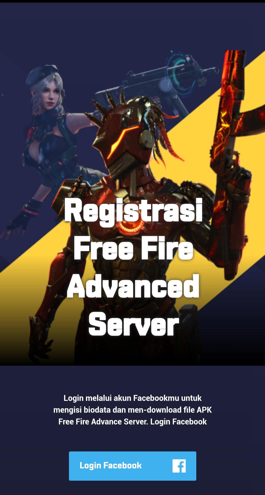 Ayo Download Garena Advanced Server Free Fire APK! - Esportsku