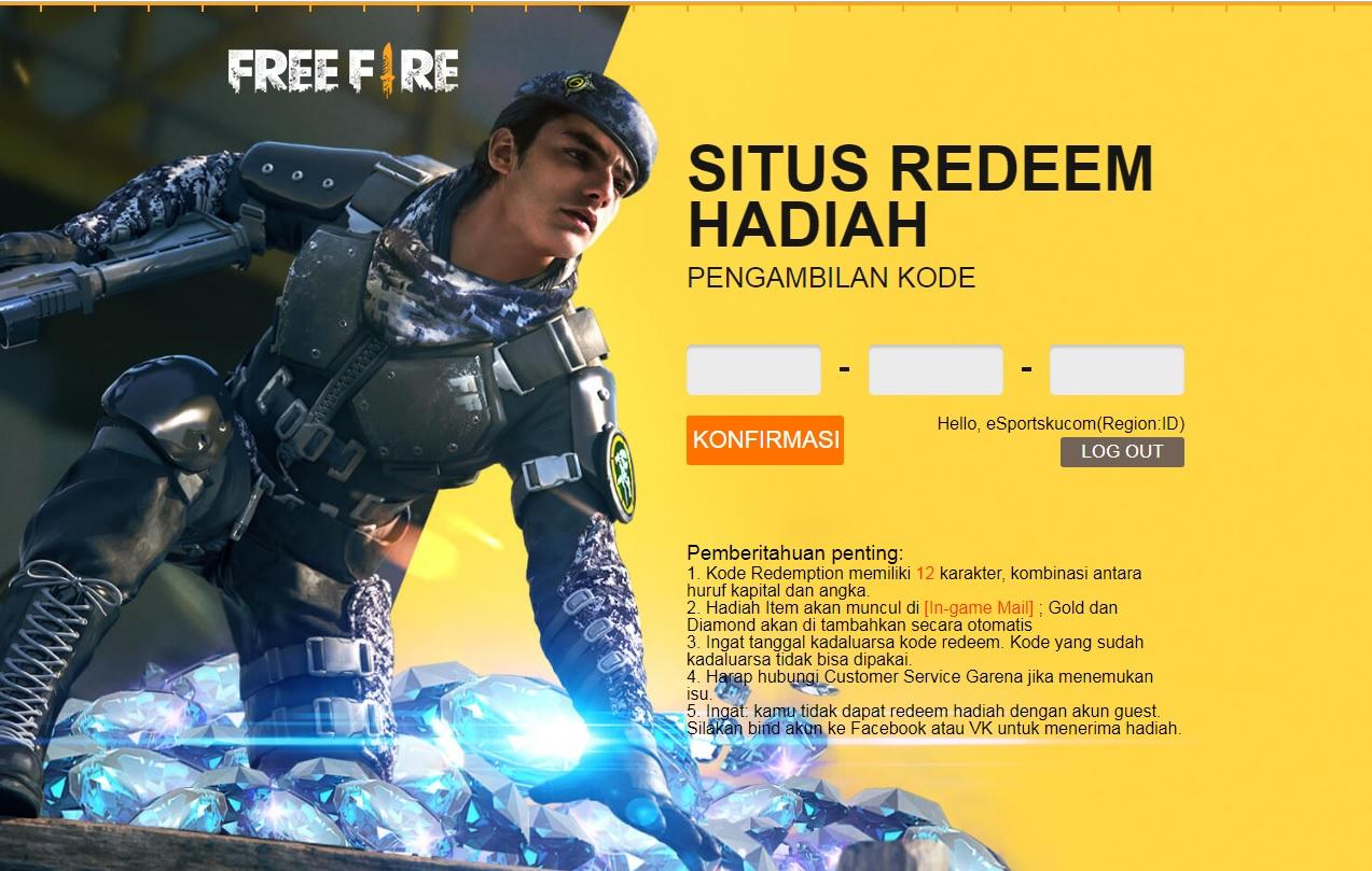 Kode Redeem Shopee FF Baru Febuari Free Fire 2020 | Esportsku