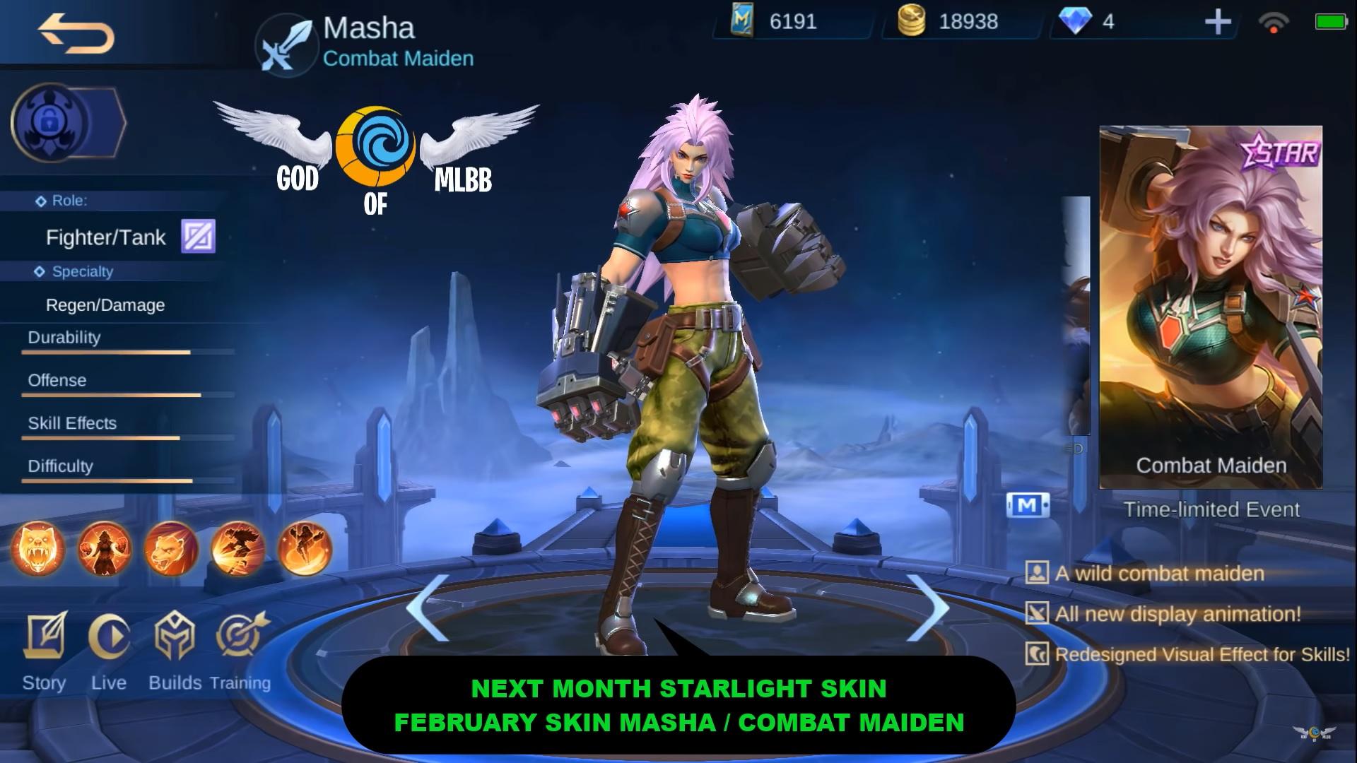 Latest ML Starlight Skins Hero Masha Mobile Legends