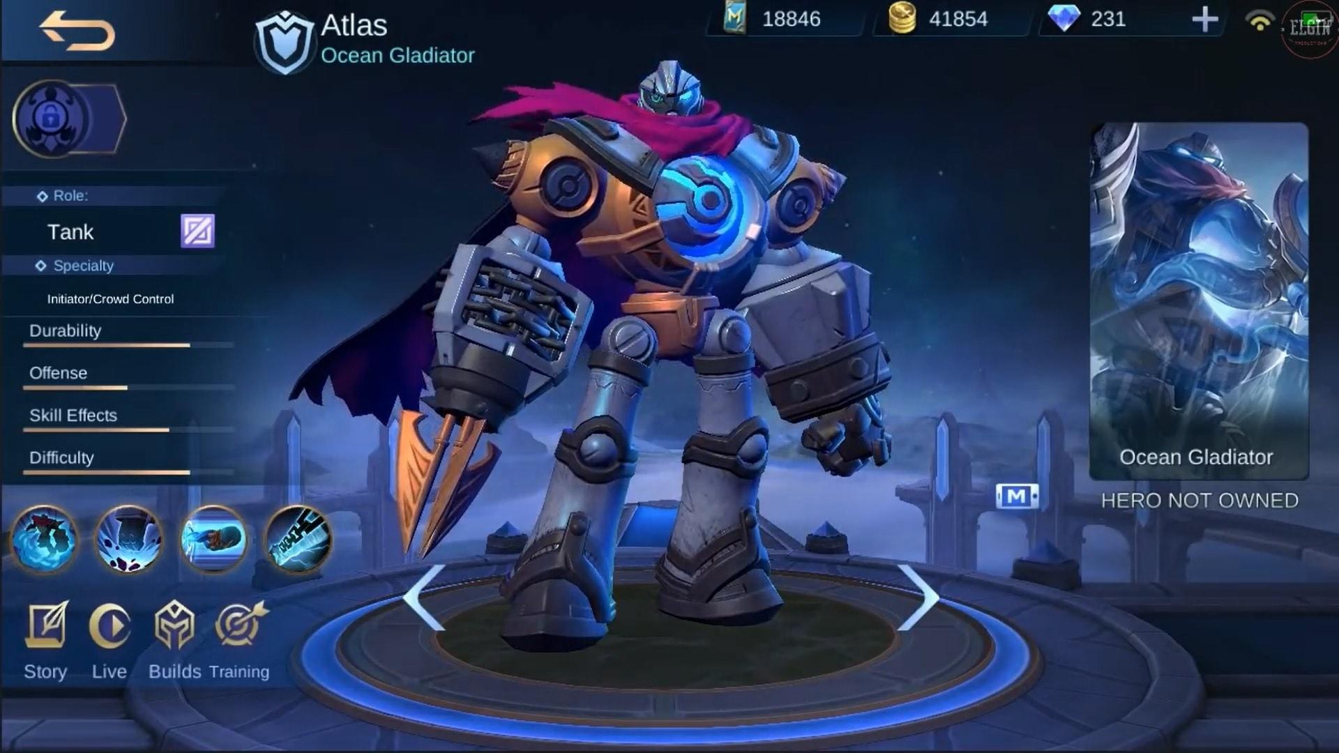 Explicación de Skill Atlas Mobile Legends (ML)