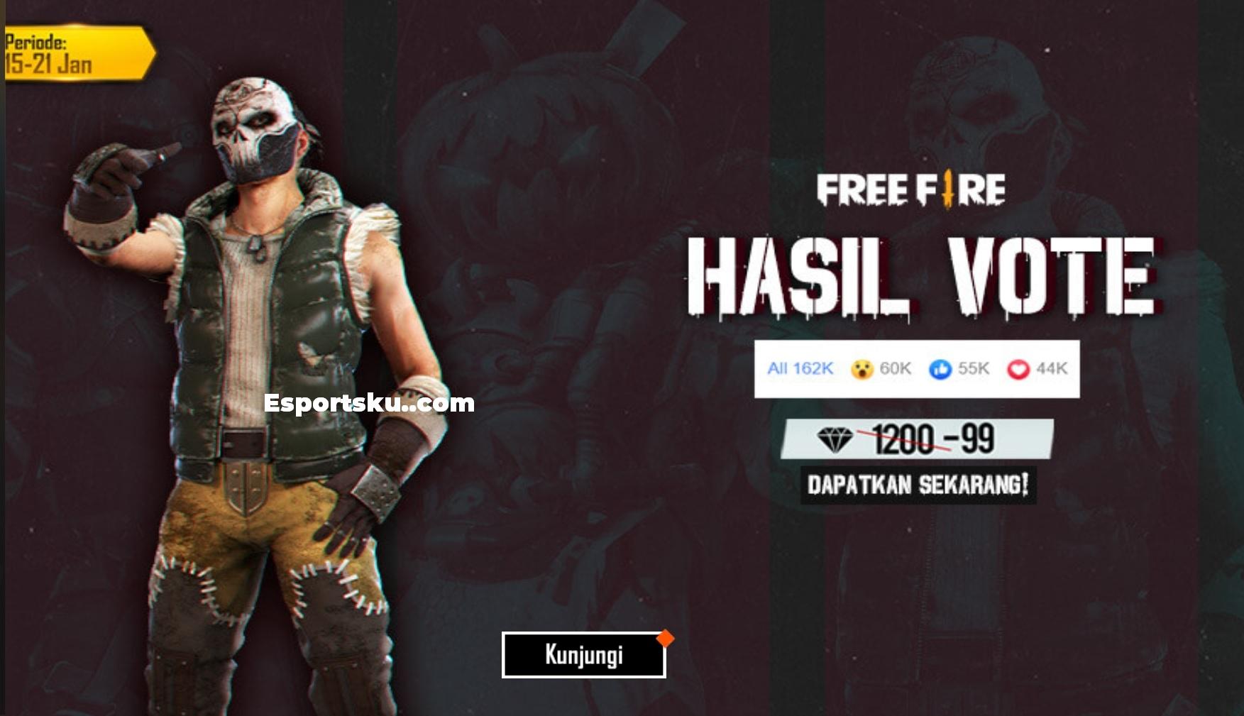Bundle Skull King Ff Murah Hanya 99 Diamond Free Fire Esportsku