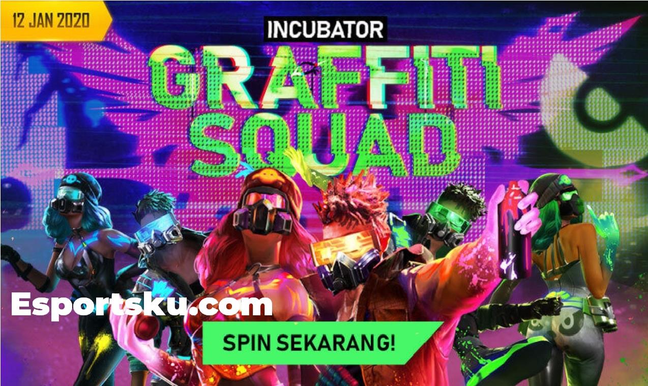 The Latest Incubator Graffiti Squad FF January Free Fire 2020