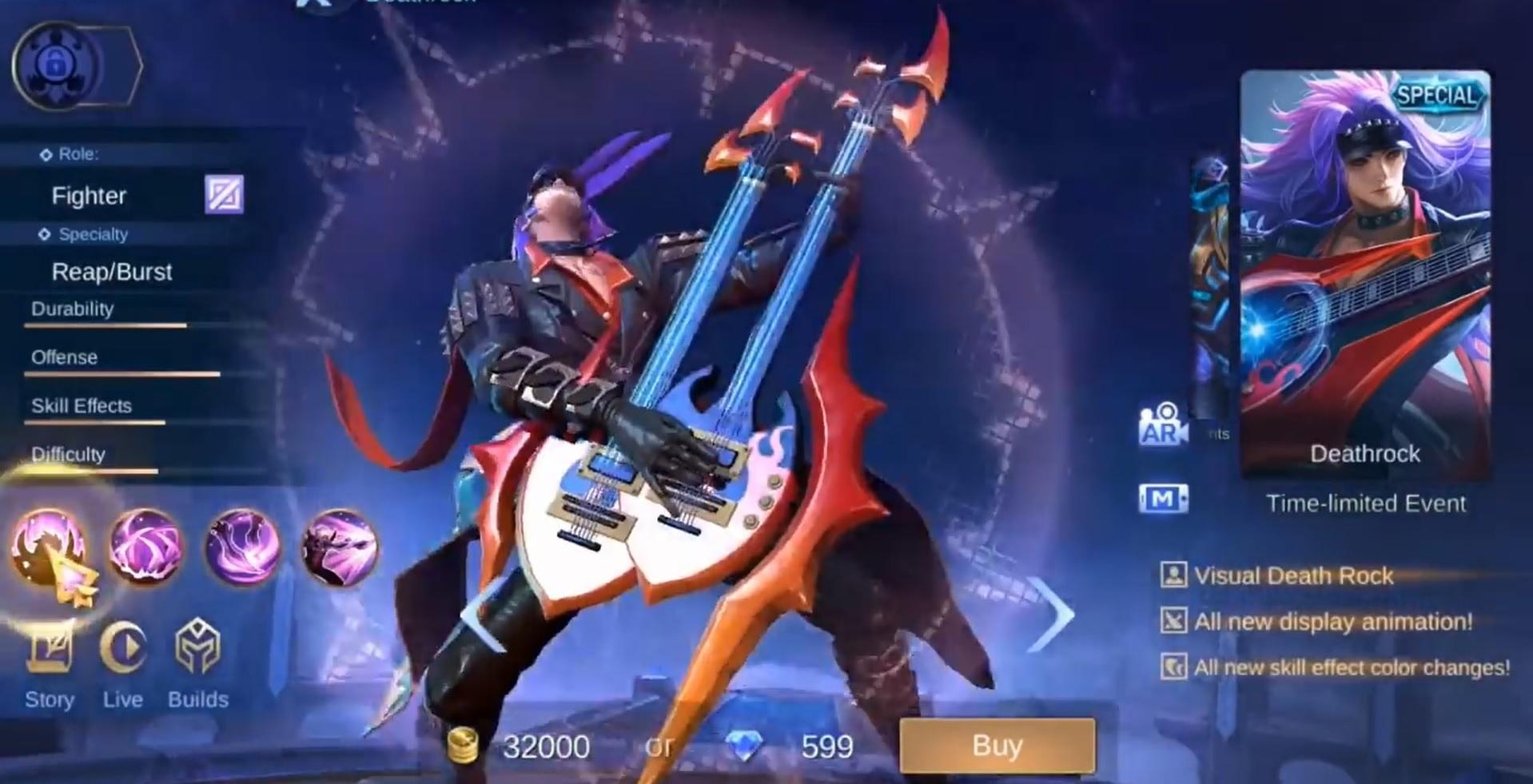 Skin Martis Deathrock ML New Cool Mobile Legends!