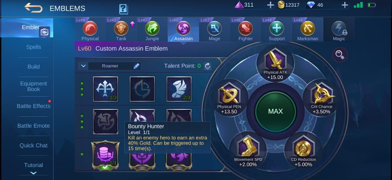 Mejor talento de Badang Mobile Legends