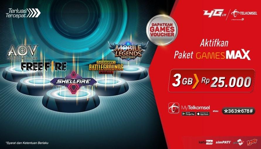 Cara Aktivasi Paket Gamesmax Telkomsel 36gb Untuk Ml Pubg Dan Ff Esportsku