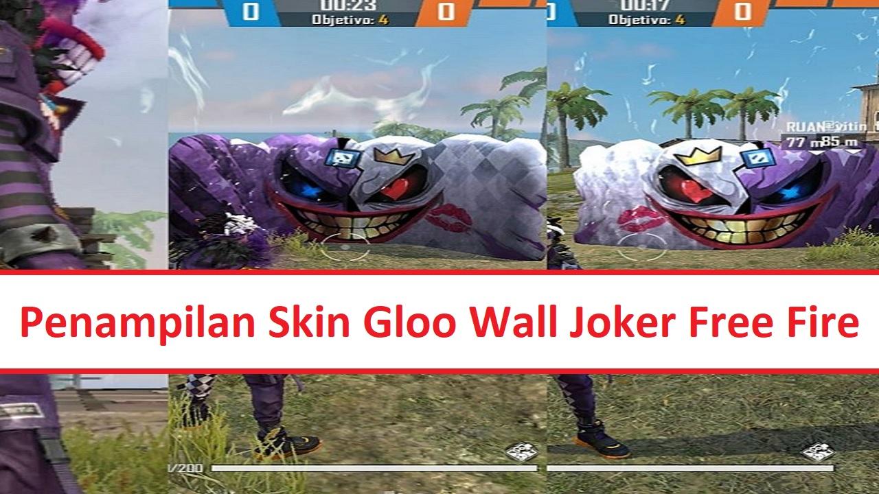 The Latest Gloo Wall Joker Skin Free Fire FF