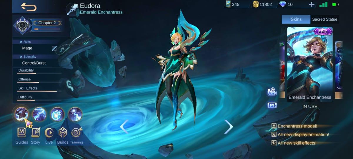 5 Skin Terbaik untuk Eudora di Mobile Legends (ML)
