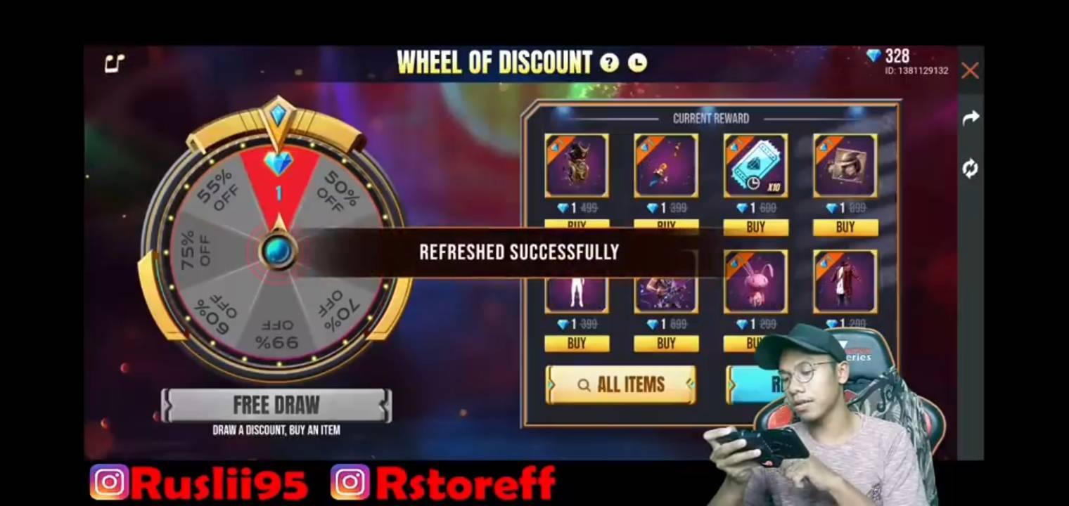 Lucky Wheel Ff Hanya1 Diamond Terbaru Free Fire Esportsku