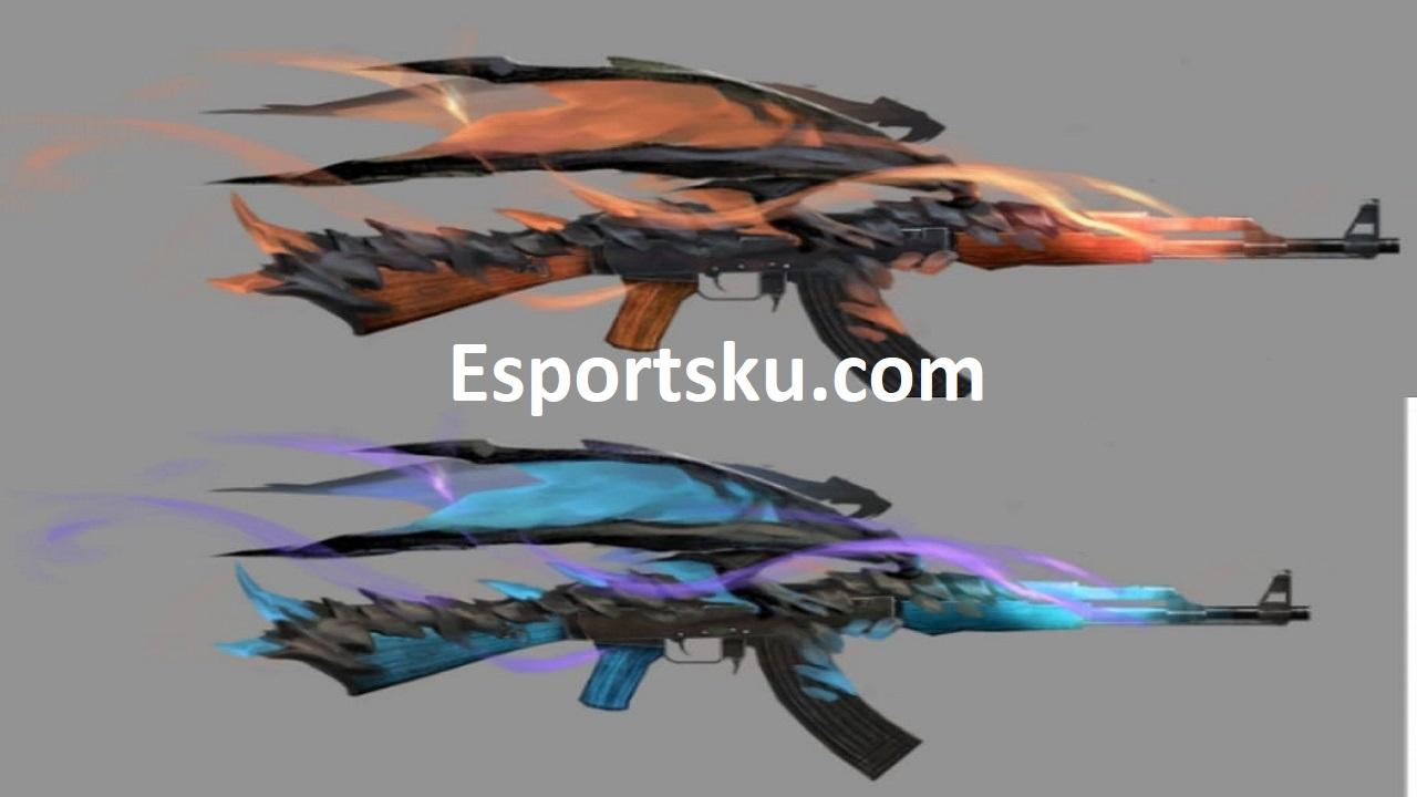 Skin Senjata Ff Draco Red Flame Di Free Fire Esportsku