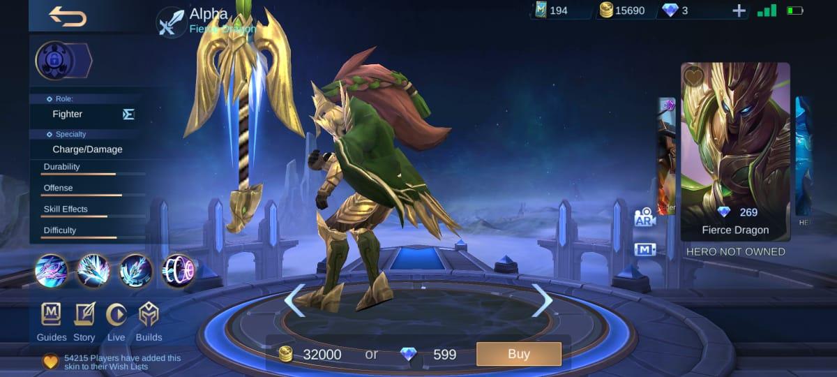 4 mejores pieles Alpha Mobile Legends (ML)