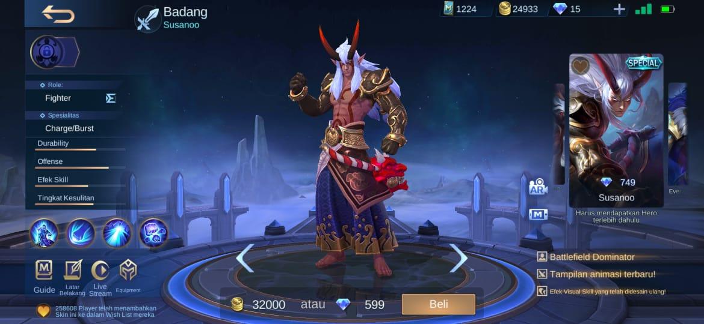 4 mejores máscaras para Badang Mobile Legends (ML)