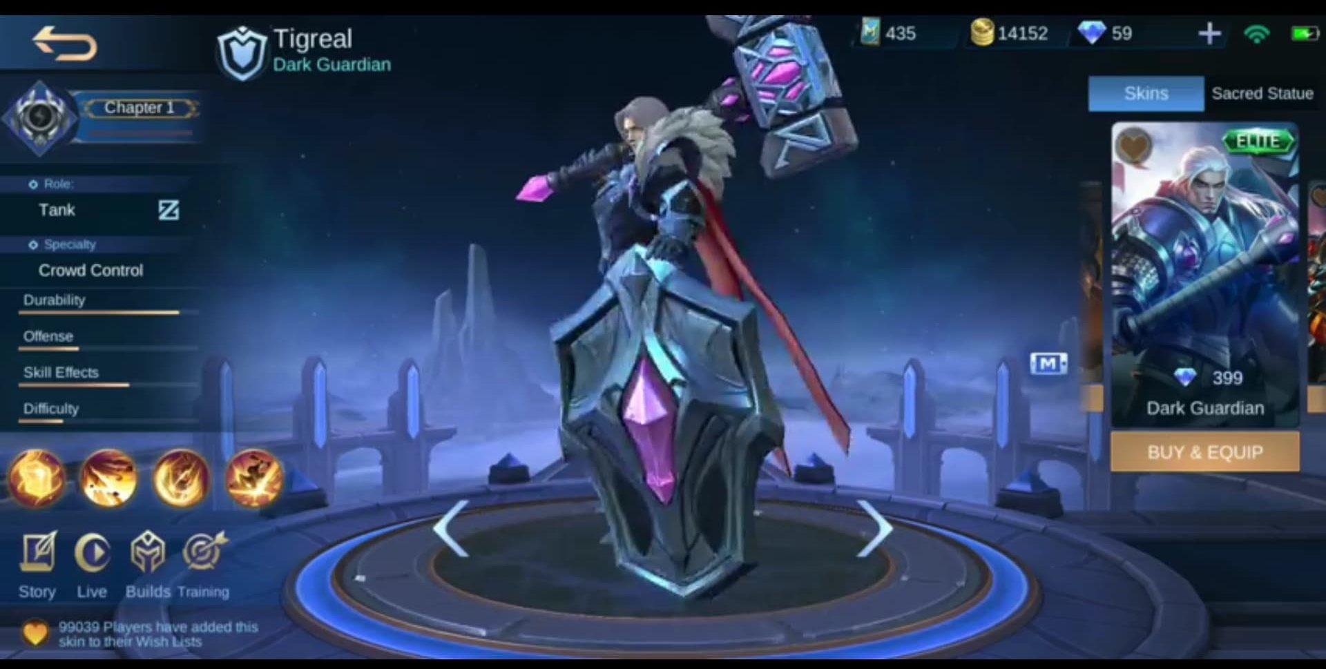 Skin Tigreal Dark Guardian Dapatkan Remodel Terbaru Di ...