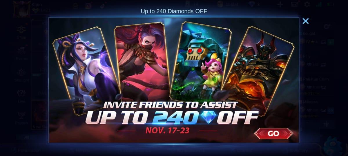 Explicación del último evento de ofertas de Mobile Legends (ML)