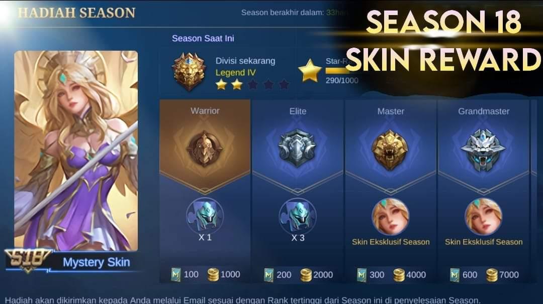 Piel filtrada Temporada 18 Mobile Legends (ML)