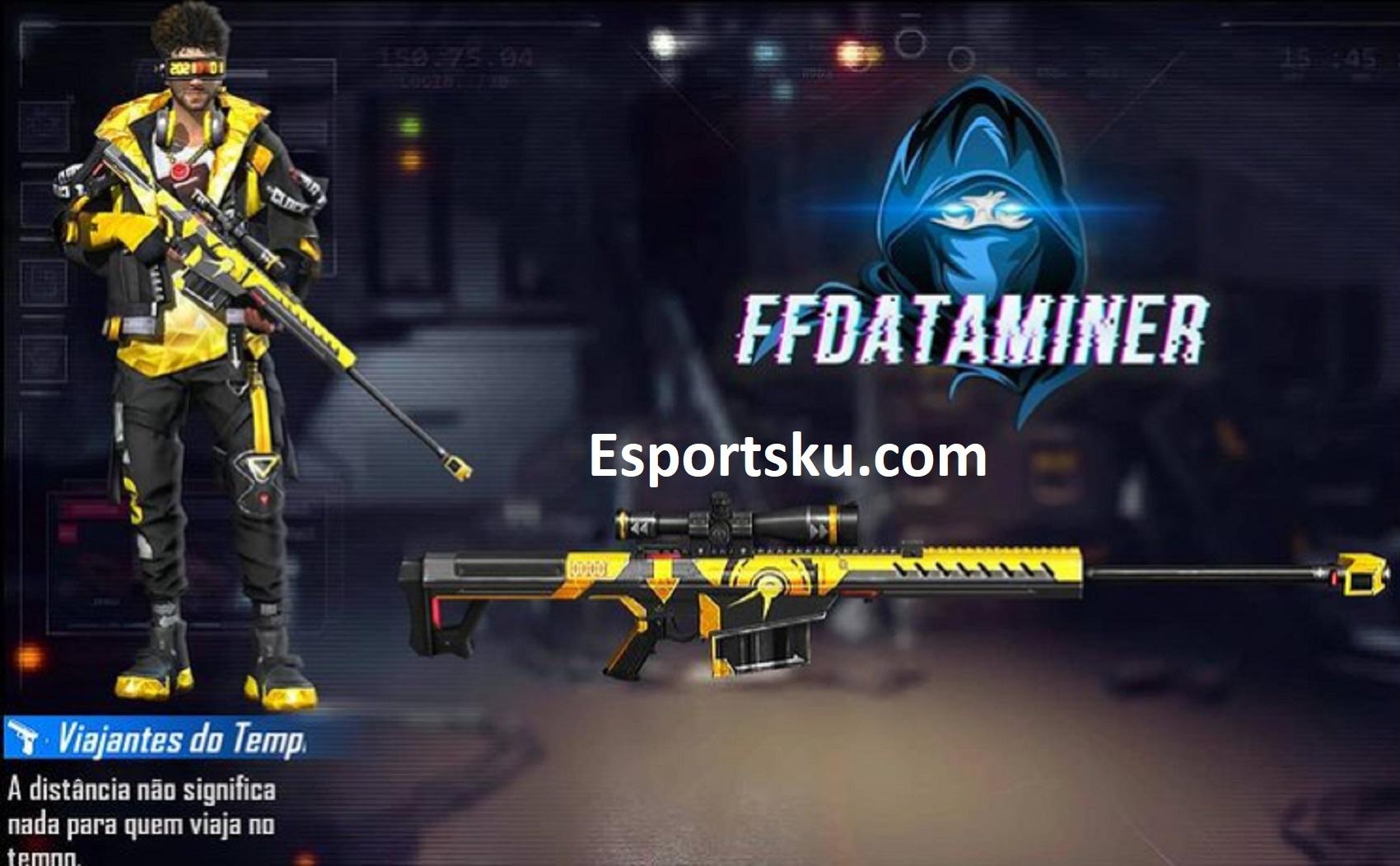 Skin Senjata M82b Time Traveler Free Fire Ff Esportsku