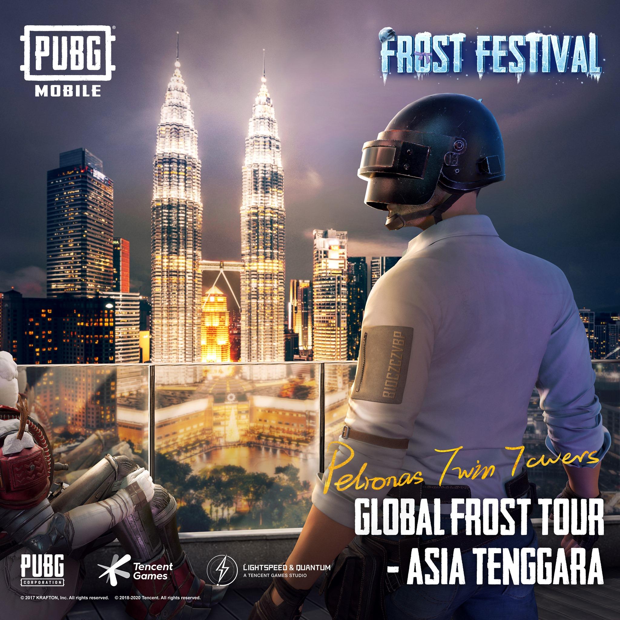 Kode Redeem Rahasia Pada Gambar Frost Tour Menara Kembar Petronas PUBG Mobile