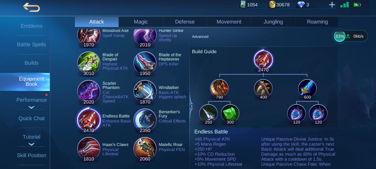 This is the Build Item that is Often Used by Hyper Carry Mobile Legends (ML)
