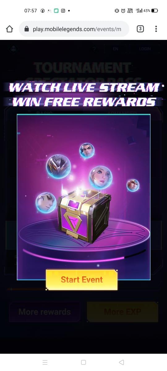 Cómo obtener el skin de Mobile Legends gratis en el evento del torneo M2 Spectator Pass