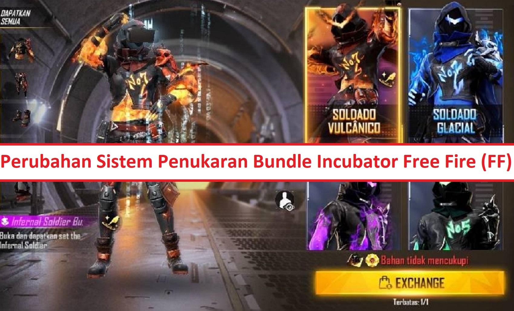 Perubahan Sistem Penukaran Bundle Incubator Free Fire Ff Esportsku